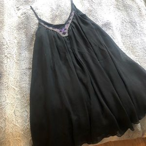 Flowy black beaded dress from Express